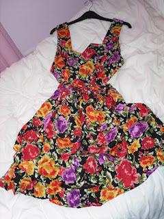 dorothy perkins pixel floral print dress