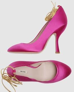 miu miu pink satin heels