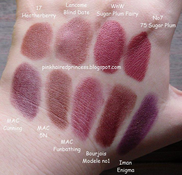Mac dark wine lipstick