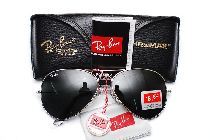 ray ban aviator black lens black frame