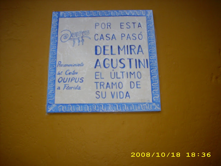 Homenaje de Quipus a Delmira Agustini en Florida.