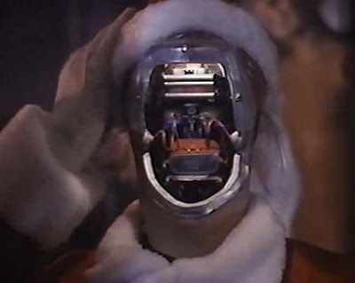 St. Nick Mark V short circuits in the final Silent Night, Deadly Night movie