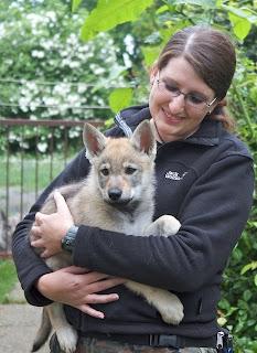 Daniela mit Gaia von der Wolfsranch