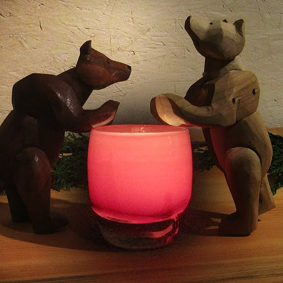 Bears with BFF Glassybaby