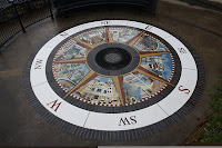 'Compass Rose' floor mosaic in Penarth community park.