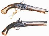 Pistolas ultiñlizadas por piratas que asolaron el Siglo XVII