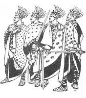 I Guerrieri di Demonland. Notate i baffetti.