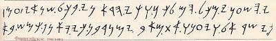Финикийское письмо. Библиографическая служба