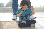 MY 3-YEARS OLD SON DARIUS IN ARDA PADMASAMA (HALF LODTUS)