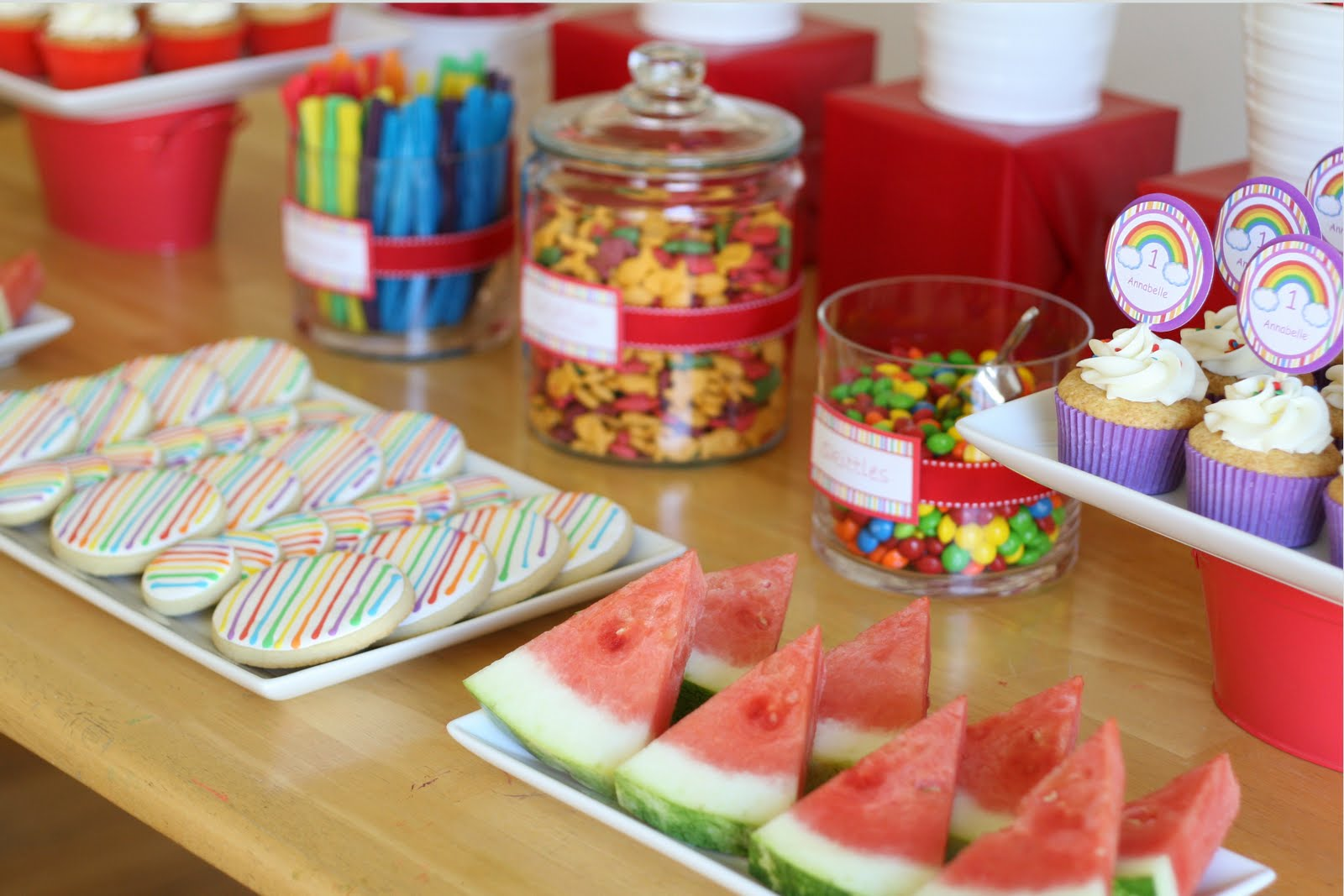 Cars Table Decorations Parties Rainbows And Race Cars Birthday Glorious Treats