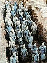 Otra imagen del mousoleo de terracota, del Emperador Qin