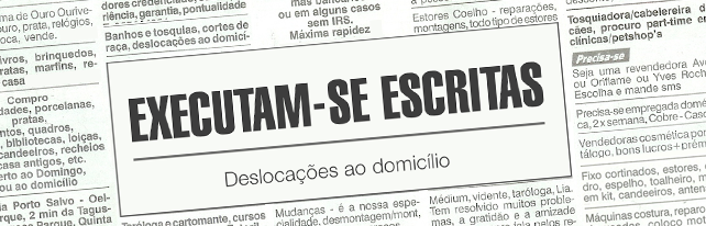 Executam-se Escritas