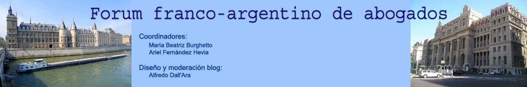 Forum franco-argentino de abogados