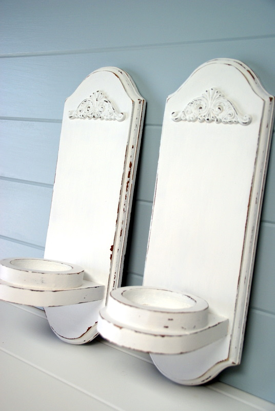 Shabby chic wall sconces White Wednesday February 9 2011 The Speckled Dog The Speckled Dog Drab To Fab Shabby Chic Wall Sconces