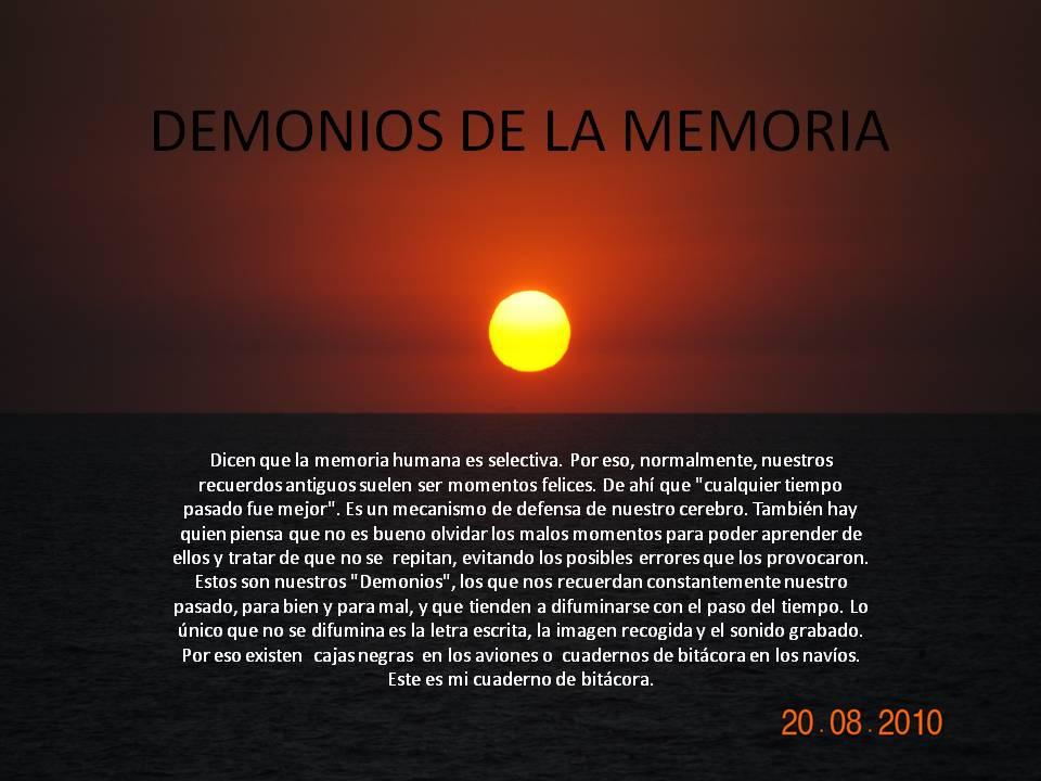 DEMONIOS DE LA MEMORIA