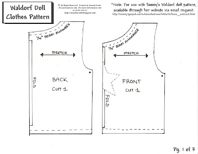 Free Doll Clothes Patterns for American Girl, Sasha, Bitty Baby