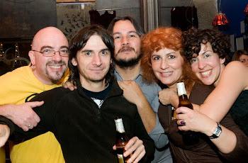 Rebeca,Sagrario,Batania,Kostas,y yo
