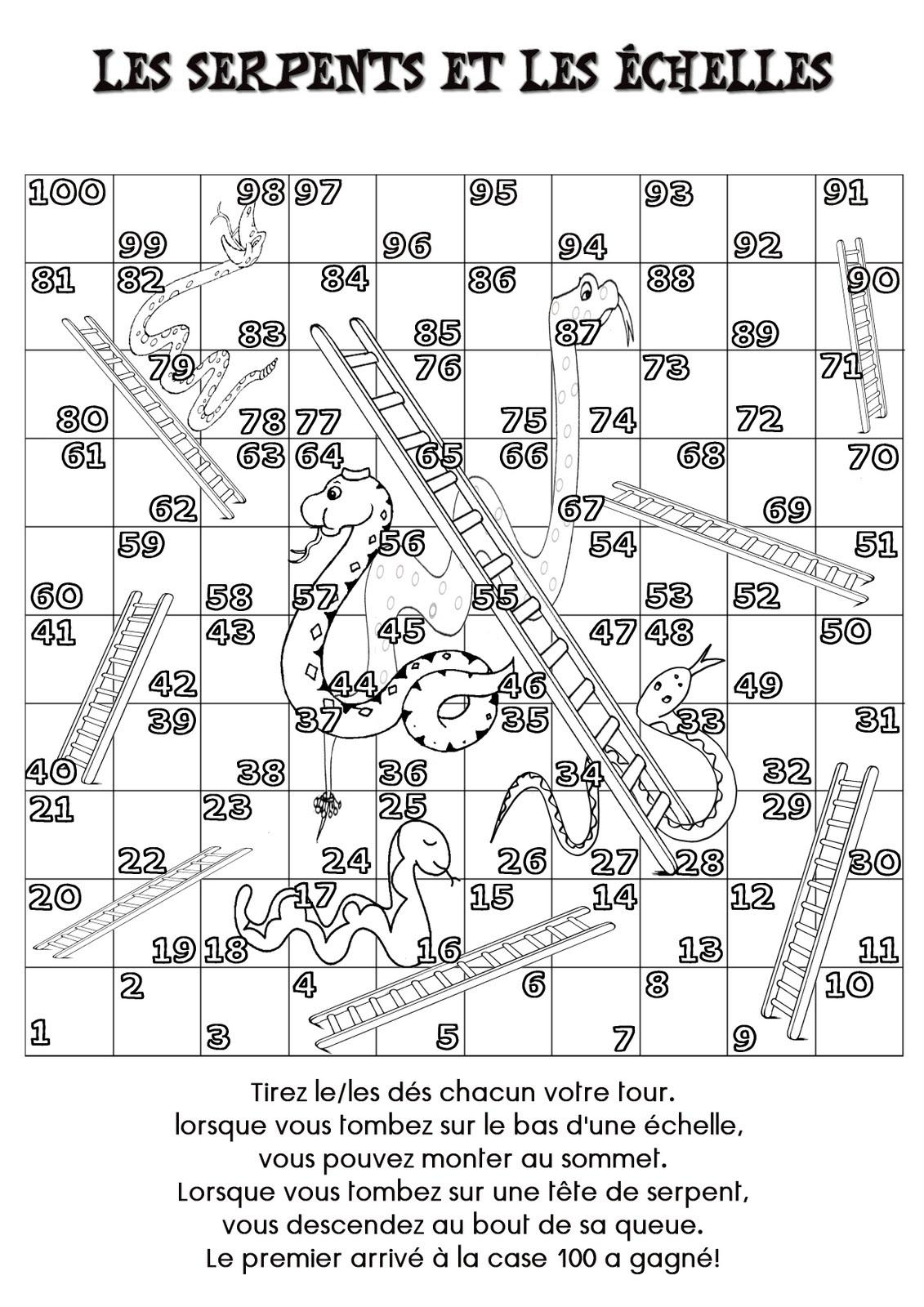 variation sur le jeu serpents et  u00e9chelles