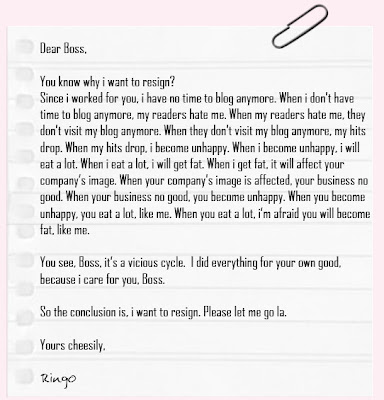 Collection Of Forwarded Mails   Blogspot  Funny Resignation Letters