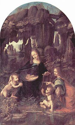 La Virgen de las Rocas, Leonardo da Vinci , 1483-1486. Museo del Louvre