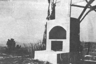 La tumba de María en su estado actual