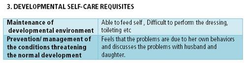 health deviation self care requisites
