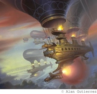 steampunk airship by alan gutierrez