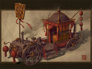 Steampunk carriage by James Ng