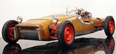 steampunk wooden car