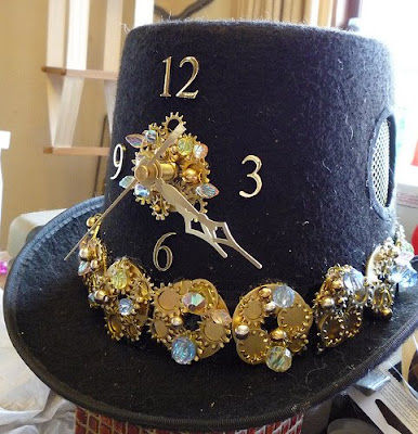 steampunk clock top hat