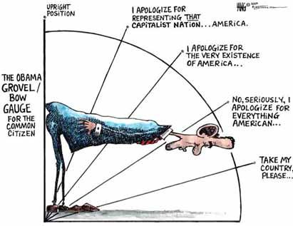 Obama bows down