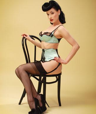 Dita von Teese wearing stockings