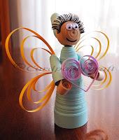 3D quilling fairy