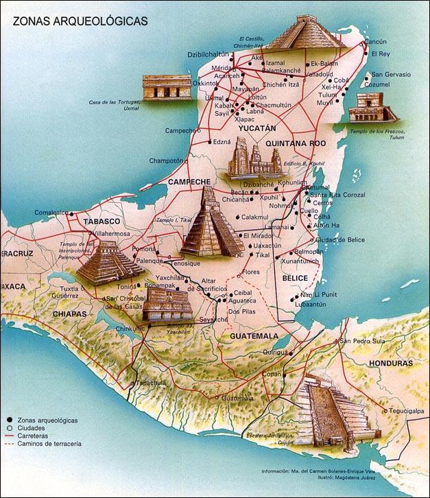 Ciencias sociales culturas mesoamericanas for Muralla entre mexico y guatemala