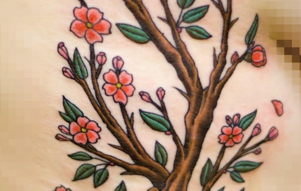 FettBuilt Cherry Blossom Branch Tattoo