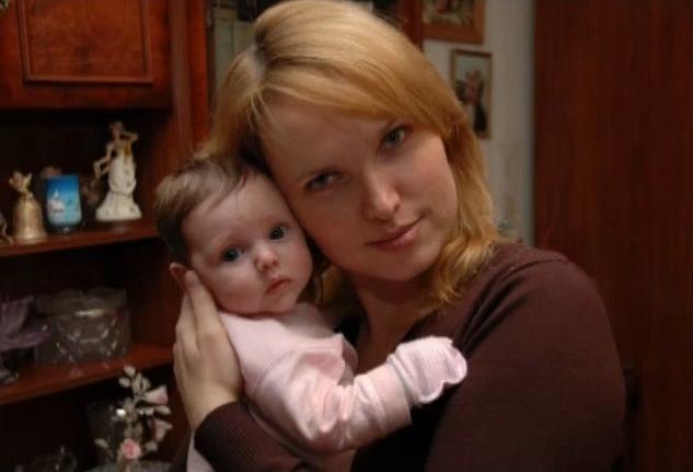 Ольга Александрина с дочкой
