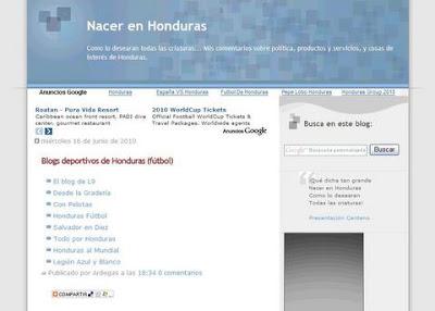 Nacer en Honduras blog