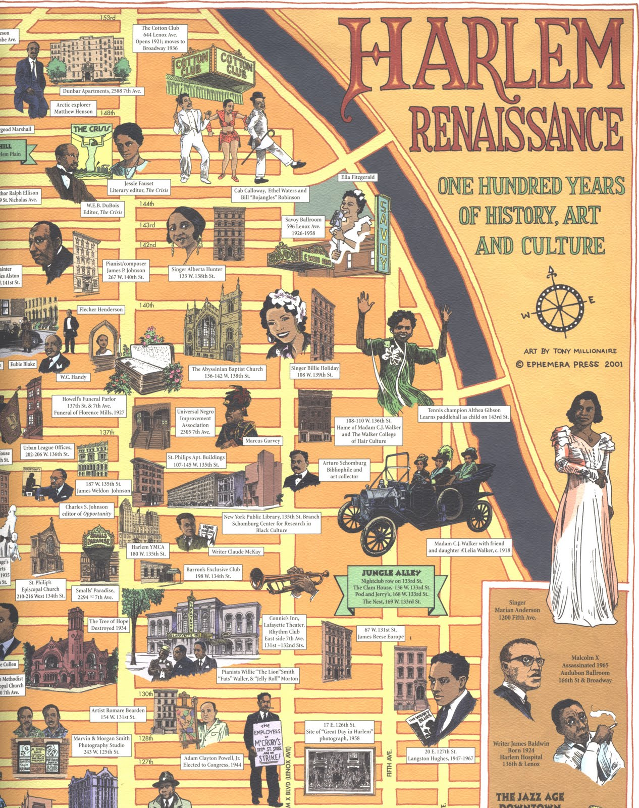 """the history of harlem renaissance This video segment from a walk through harlem takes a look at the harlem renaissance, a large social and cultural movement of the early 1900s -1930s stemming from the """"great migration of african americans from the rural south to american history, african american history, literature, harlem renaissance, poets."""