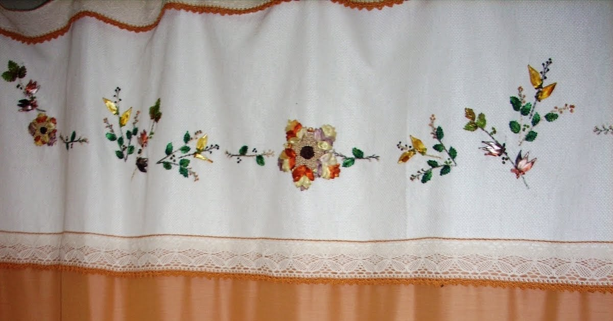 Bordado con cintas juego de ba o cortina y accesorios for Accesorios para cortinas de bano