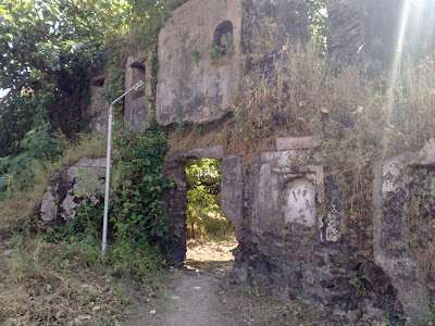 Ruins of Kanhoji Angre's Palace (Wada) in Alibag Fort.