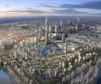 """""""برج دبي"""" يستمر في تحطيم الأرقام القياسية مع وصوله إلى 688 مترًا في أول سبتمبر 2008"""