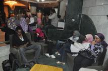 صحفيو الدستور يعتصمون في مقر نقابة الصحفيين احتجاجا علي إقالة أستاذهم إبراهيم عيسي