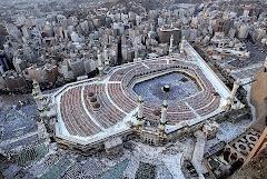 صورة نادرة للمسجد الحرام من الأعلى