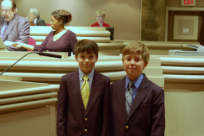 Two Montgomery Catholic Students Recite Pledge at State House 1