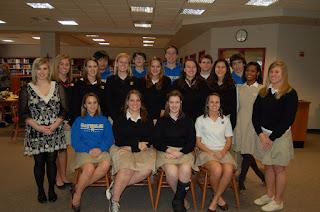 Montgomery Catholic Taps New Honor Society Members 1