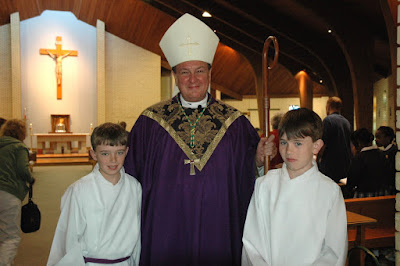 Archbishop Rodi Visits St. Bede Campus 1