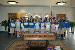 Middle School Students Donate to COPE 1