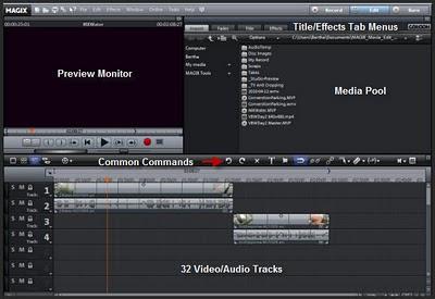 Magix MovieEdit Timeline