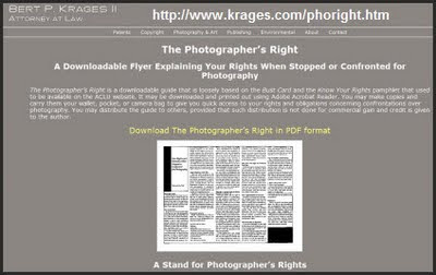 Burt Krages Photographic Law Document