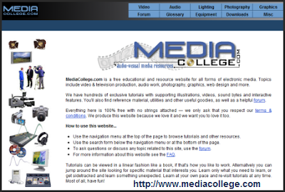 Free video resources at MediaCollege